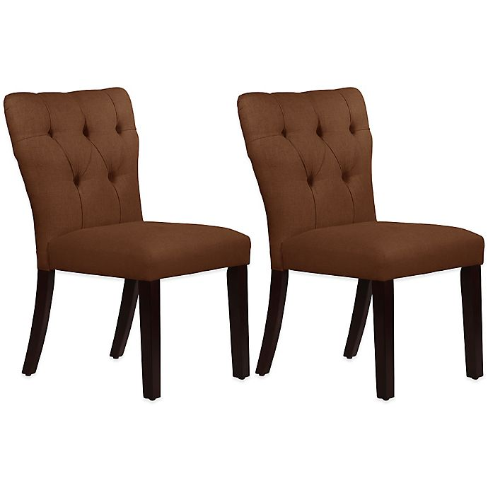 Luxe Linen Upholstered Tufted Dining Armchair: Buy Skyline Furniture Violeta Tufted Hourglass Dining