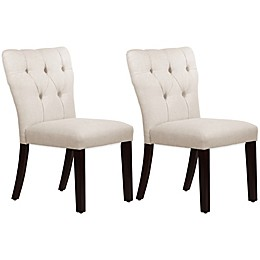 Skyline Furniture Violeta Tufted Hourglass Dining Chairs (Set of 2)