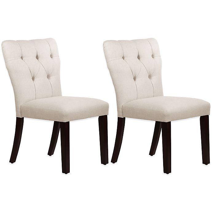 Skyline Furniture Violeta Tufted Hourgl Dining Chairs Set Of 2