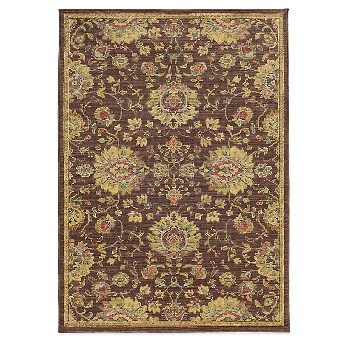 Alternate image 1 for Tommy Bahama® Cabana Collection Traditional Brown 5-Foot 3-Inch x 7-Foot 6-Inch Rug