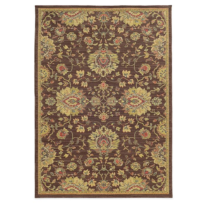 Alternate image 1 for Tommy Bahama® Cabana Collection Traditional Brown 6-Foot 7-Inch x 9-Foot 6-Inch Rug