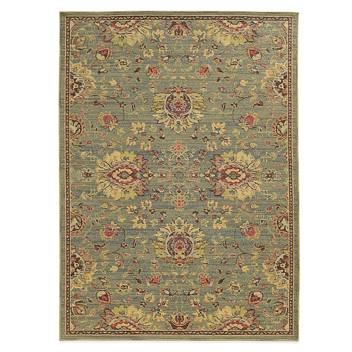 Alternate image 1 for Tommy Bahama® Cabana Collection Traditional Green 9-Foot 10-Inch x 12-Foot 10-Inch Rug