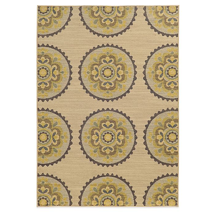 Alternate image 1 for Tommy Bahama® Cabana Collection Suzani Ivory 5-Foot 3-Inch x 7-Foot 6-Inch Rug