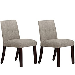 Skyline Furniture Ariana Tapered Dining Chairs with Buttons (Set of 2)