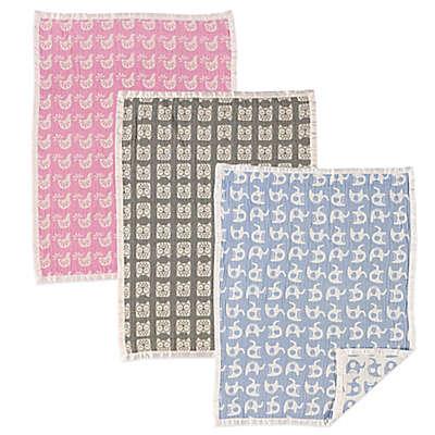 Living Textiles Baby Mix & Match Muslin Jacquard Blanket