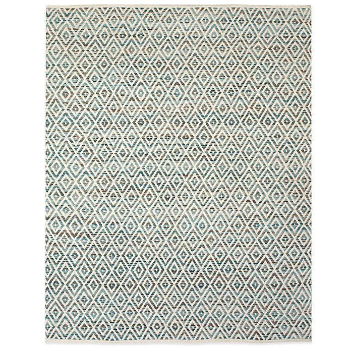Alternate image 1 for Feizy Diamond 8-Foot x 11-Foot Rug in Aqua