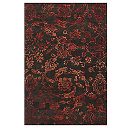 Feizy Beloha 5-Foot x 8-Foot Rug in Chocolate/Red