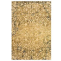 Feizy Beloha 5-Foot x 8-Foot Rug Ivory/Gold