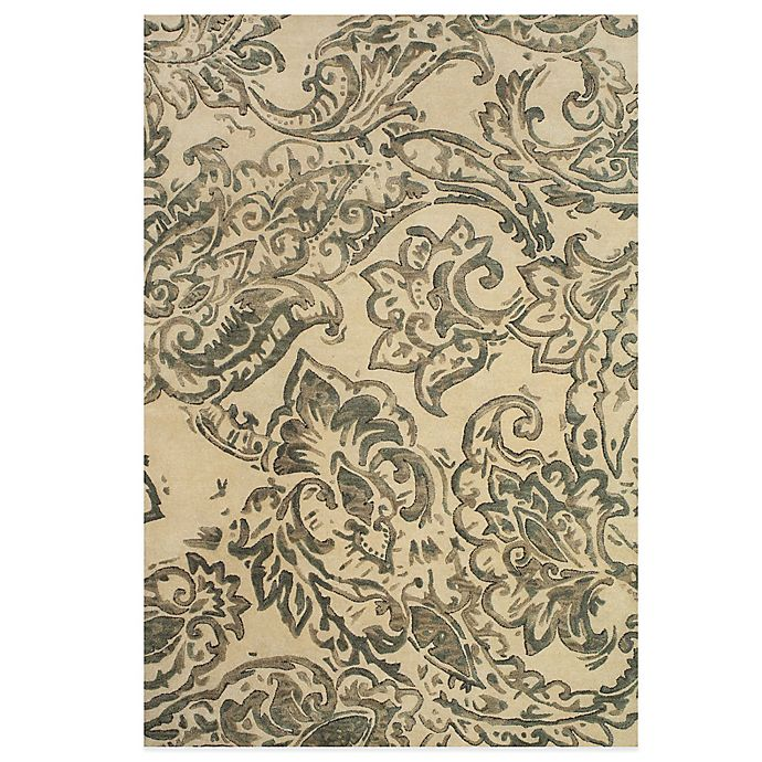 Alternate image 1 for Feizy Beloha 5-Foot x 8-Foot Rug in Ivory/Grey