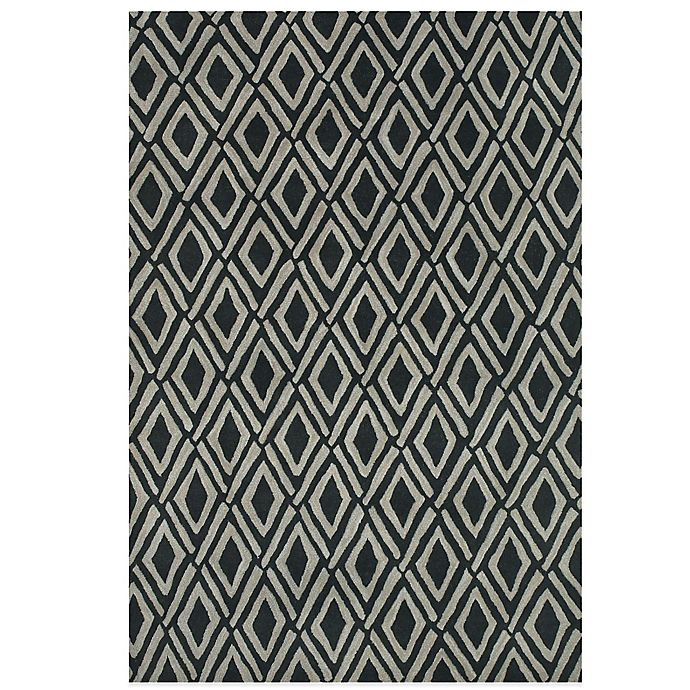 Alternate image 1 for Feizy Diamonds 5-Foot x 8-Foot Rug in Grey/Black