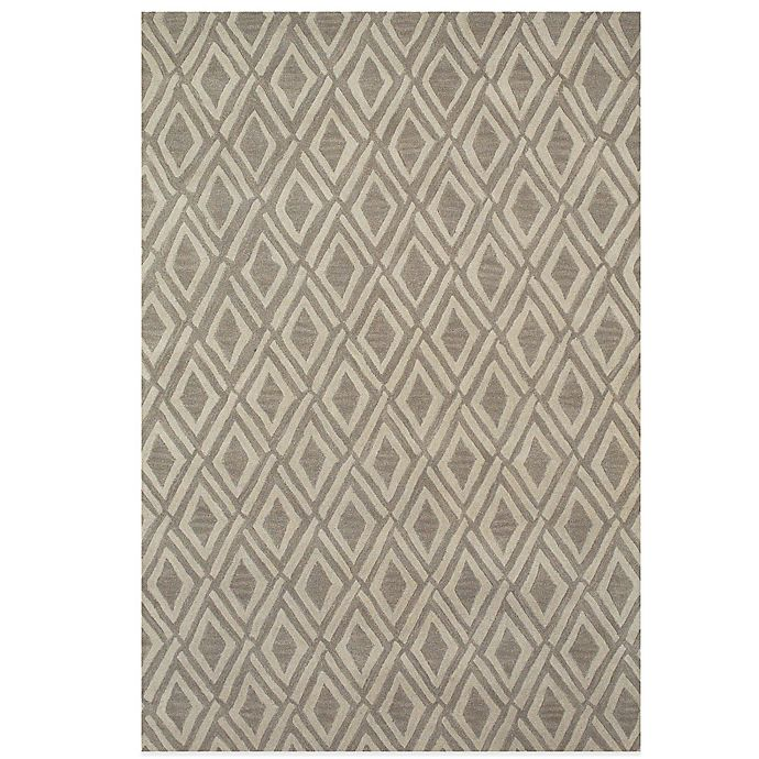 Alternate image 1 for Feizy Diamonds 5-Foot x 8-Foot Rug in Light Grey