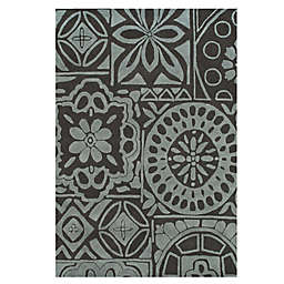 Feizy Floral Circle 5-Foot x 8-Foot Rug in Charcoal/Grey