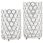 Deco Crystal Hurricane Lamps (Set of 2)