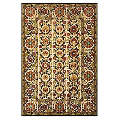 Feizy Border Circles Indoor/Outdoor Rug in Light Gold