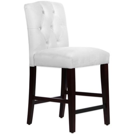 Skyline Furniture Denise Tufted Arched Counter Stools And