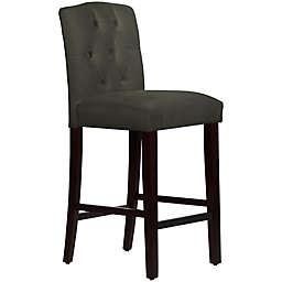Skyline Furniture Denise Tufted Arched Bar Stool in Velvet Pewter