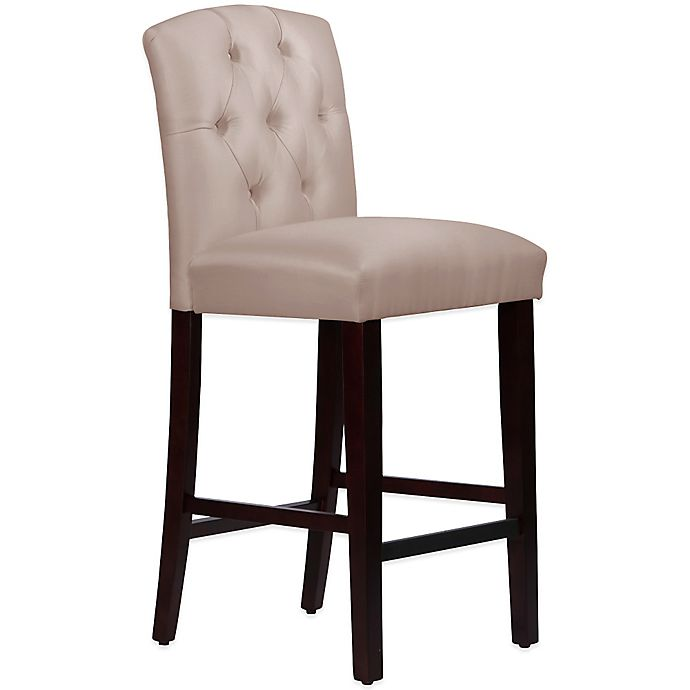 Skyline Furniture Denise Tufted Arched Bar Stool In
