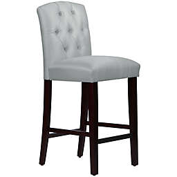 Skyline Furniture Denise Tufted Arched Bar Stool in Shantung Silver