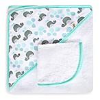 JJ Cole® Hooded Towel in Aqua Whale