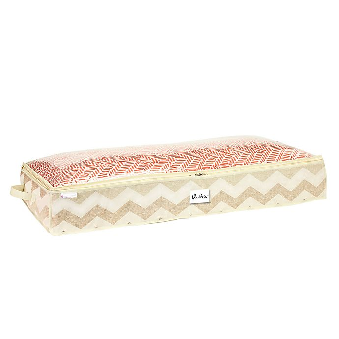 Alternate image 1 for ClosetCandie Textured Chevron Under-the-Bed Storage Bag