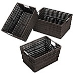 Rattique Storage Baskets in Espresso (Set of 3)