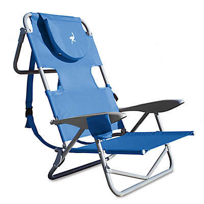 Ostrich-On-Your-Back Reclining Beach Chair