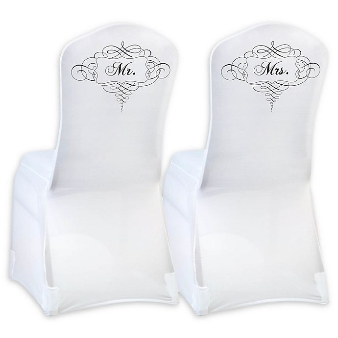 Fine Lillian Rose Mr And Mrs Chair Covers In White Bed Theyellowbook Wood Chair Design Ideas Theyellowbookinfo