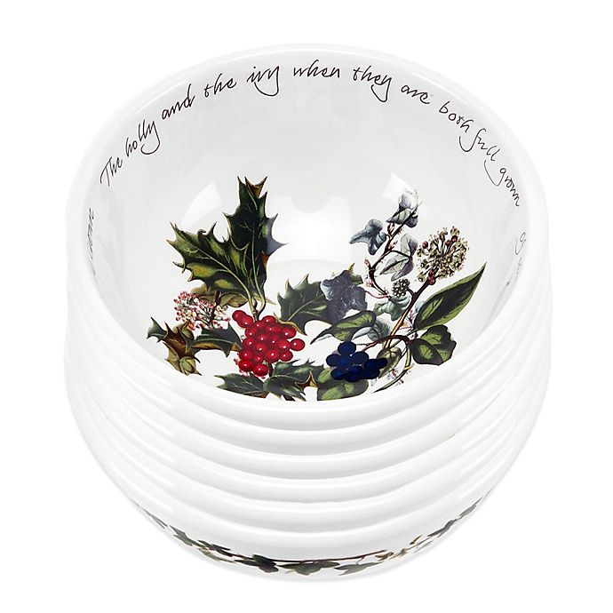 Alternate image 1 for Portmeirion® Holly & Ivy Fruit Bowl (Set of 6)
