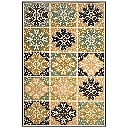 Feizy Diamond Tiles Indoor/Outdoor Rug in Sand/Brown