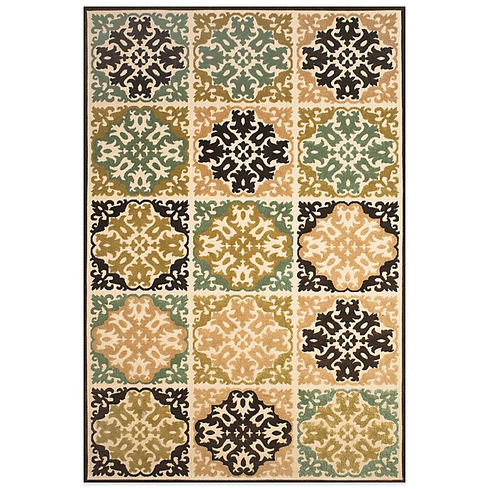 Alternate image 1 for Feizy Diamond Tiles Indoor/Outdoor Rug in Sand/Brown