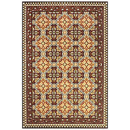 Feizy Tilework Indoor/Outdoor Rug in Sand/Terracotta