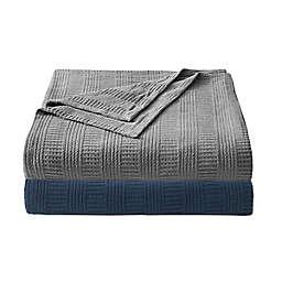 Rope Stripe Navy Cotton Full/Queen Blanket
