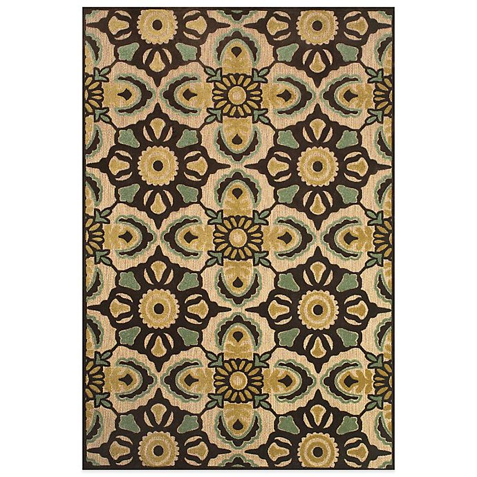 Alternate image 1 for Feizy Kaleidoscope Floral Rug in Tan/Brown