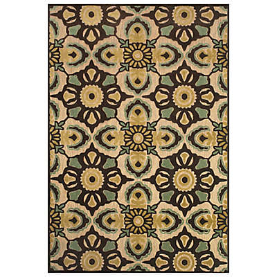 Feizy Kaleidoscope Floral Rug in Tan/Brown