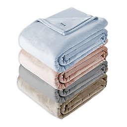 Solid Ultra Soft Plush Rose F/Q Blanket