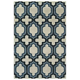 Feizy Trellis Rug in Blue