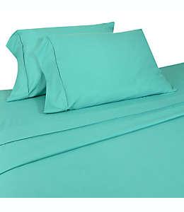 Set de sábanas matrimoniales Home Dynamix Micro Lush de microfibra en turquesa