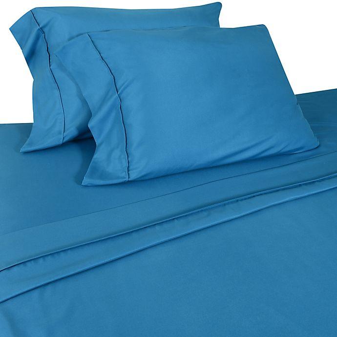 Alternate image 1 for Micro Lush Microfiber Twin Sheet Set in Blue