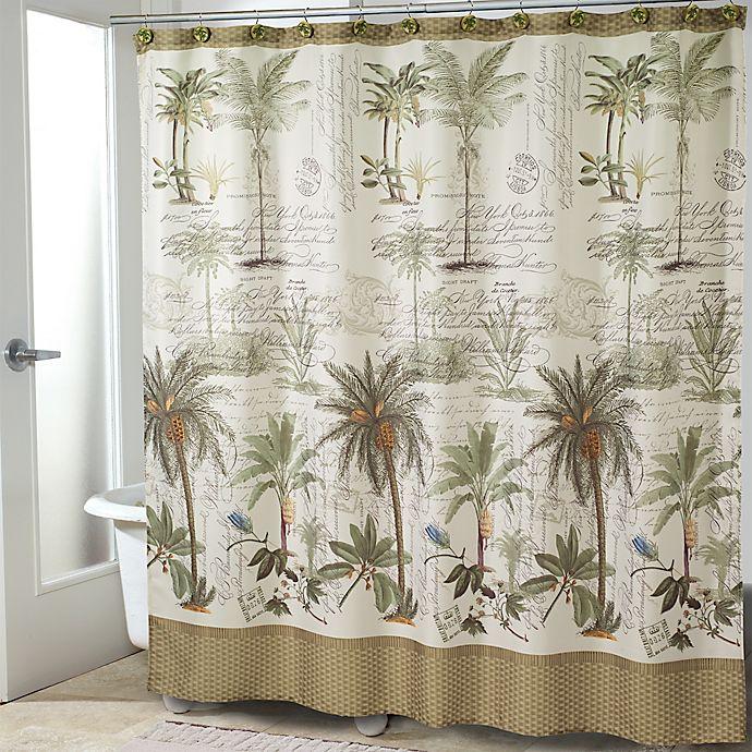 Alternate image 1 for Avanti Colony Palm Shower Curtain