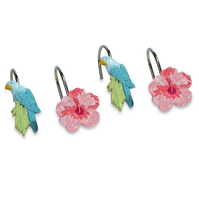 Tropical Bird Shower Curtain Hooks