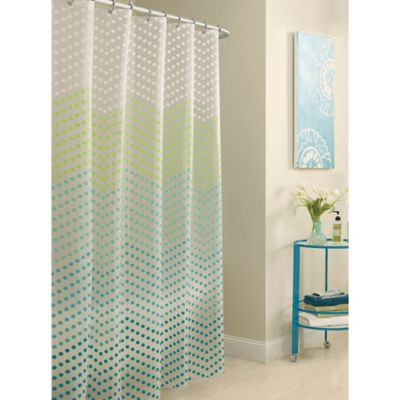 Peva Chevron Dots Shower Curtain Bed Bath And Beyond Canada