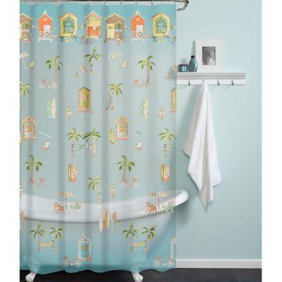 PEVA Cabana Beach Shower Curtain | Bed Bath and Beyond Canada