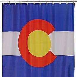 Izola Colorado State Flag Shower Curtain