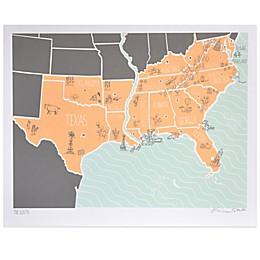 American Atlas, The South Wall Art