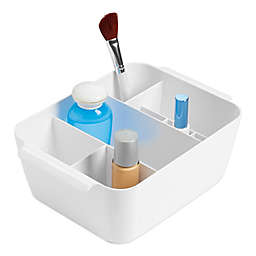 InterDesign® Clarity Divided Cosmetic Bin in White