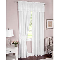 Danielle Embroidered Eyelet Window Curtain Panel and Valance