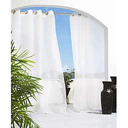 Cote d' Azure Grommet Top Semi-Sheer Indoor/Outdoor Window Curtain Panel