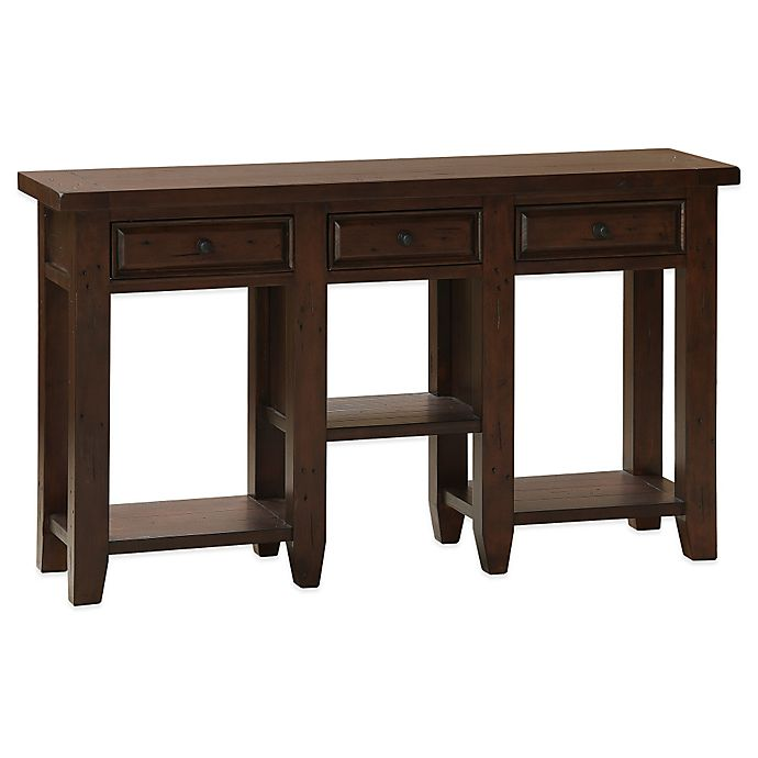 Foyer Table Bed Bath And Beyond : Hillsdale tuscan retreat drawer hall table bed bath