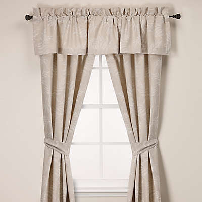 Laura Ashley® Bracken Leaves Window Curtain Panel Pair and Valance