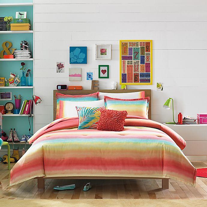 Teen Vogue® Electric Beach Comforter Set in Coral